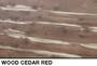 reddish cedar textured slatwall for retail wall displays