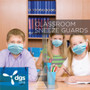 Sneeze Guard Without Hole Made By DGS Retail And Shown In Use On School Desk In Classroom