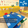 48 x 48 restaurant table or school desk sneeze guard manufactured by DGS Retail