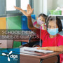 Portable Student School Desk Sneeze Guard Folding 25-Pack