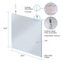 Hanging Sneeze Guard Checkout Counter 4-Pack, Acrylic 38.5 x 38.5H