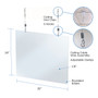Hanging Sneeze Guard For Nail Salon Beauty Spa 4-Pack, Acrylic 32 x 24H