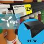 "Single Wire Cooler Shelf Price Tag Molding Black, 27"""