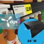 "Single Wire Cooler Shelf Price Tag Molding Black, 24"""