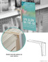 Gripper Gondola Shelf Aisle Violator Sign Holder, Shelf Talker, 3H
