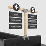 wood aisle signs for store shelving