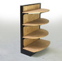 wood gondola store shelving for bread displays and pastry display cases