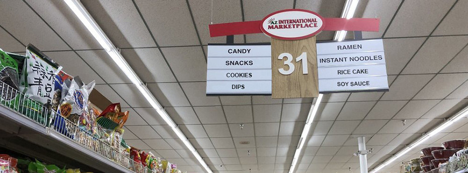 New Asian Supermarket Design & Signs