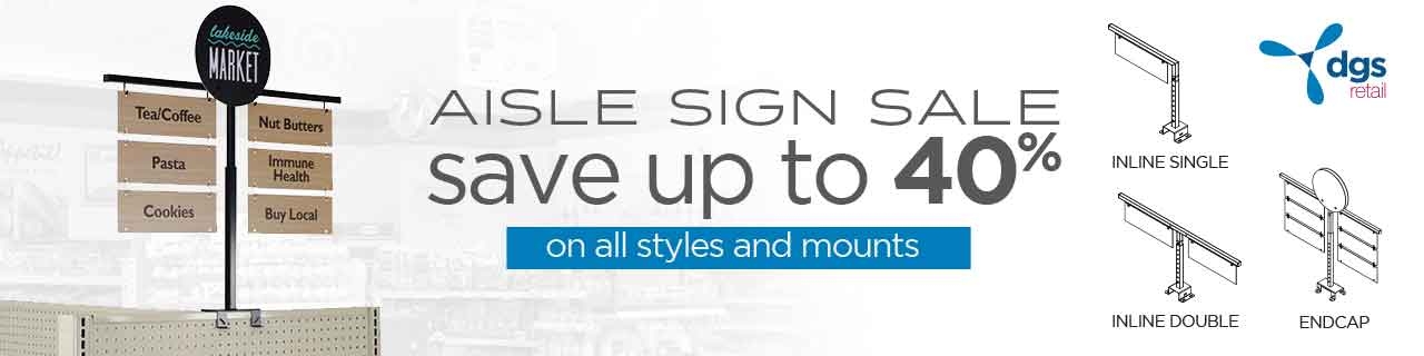 Aisle Sign Sale