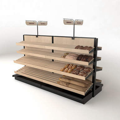 Bakery Display Case Wood Cooling Shelves Bread Shelving