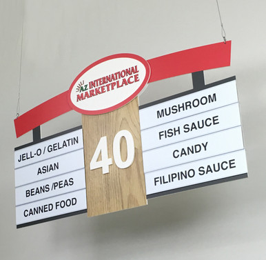 Hanging Store Signs Custom Retail Aisle Signs