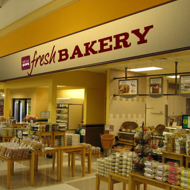 Grocery Store Interior Design Low Cost Bakery Signs
