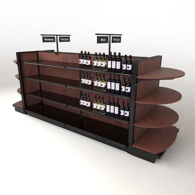 Wood Store Fixture Wooden Gondola Shelving Dgs Retail