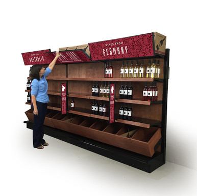 Walk In Cooler Panels >> Commercial Wine Racks Wall | Wood Gondola System | DGS Retail