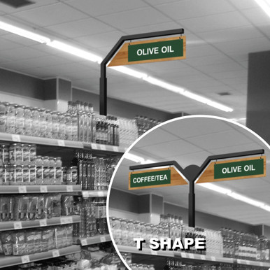 Walk In Cooler Panels >> Gondola Shelving Inline Signs | Store Aisle Markers