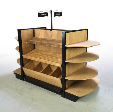 Wooden Bread Display Shelves Store Shelving Dgs Retail