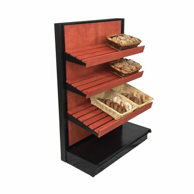 Bread Display Shelving Wooden End Caps For Stores Dgs