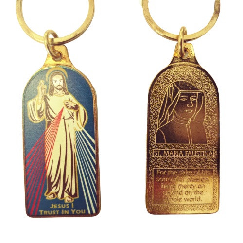Keyring: Colour Fill - Divine Mercy