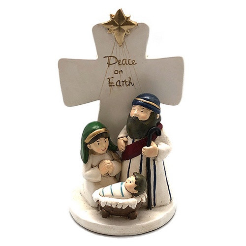 Nativity Cross: Peace on Earth - Holy Family