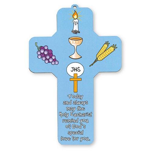 Cross Plaque: Communion 18cm