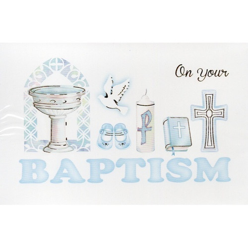 Card:  Baptism Boy