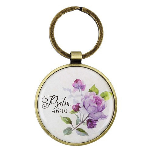 Keyring in Tin: Be Still and Know