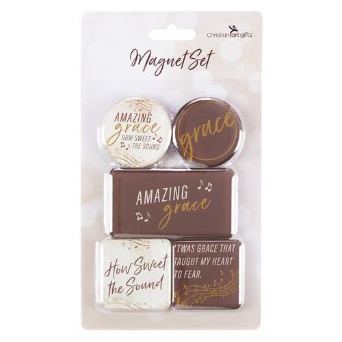 Magnet Set: Amazing Grace Brown / Cream