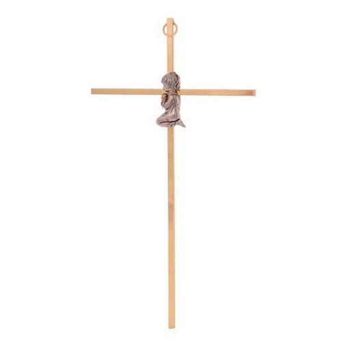 Wall Cross:  Gold Plated - Girl 25cm