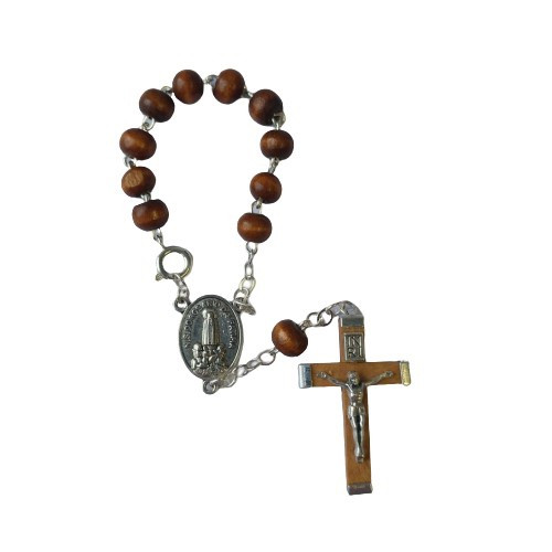 Rosary Chaplet: One Decade Wooden with Clip
