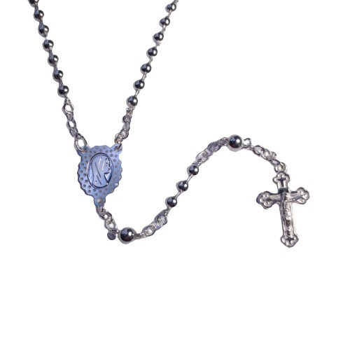 Rosary: Small Silver Plated with Fatima Centrepiece