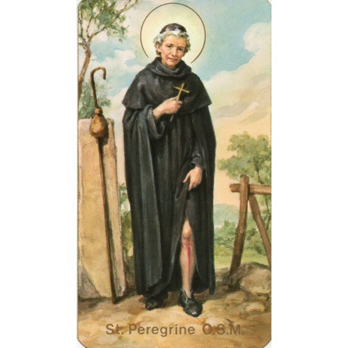 Holy Picture: St Peregrine - 5.5cm x 10cm