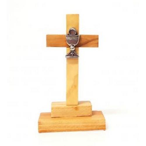 Cross:  Standing Communion Chalice Olive Wood 7.5cm
