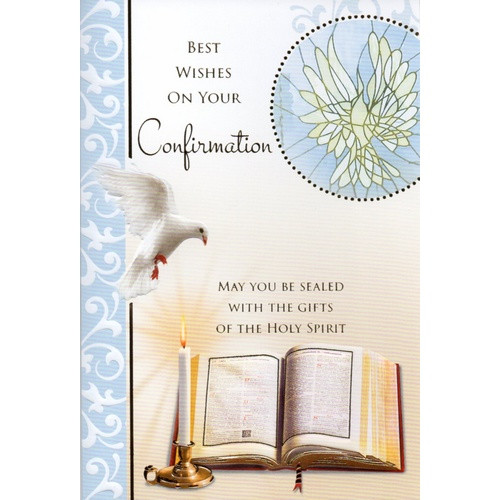 Card:  Confirmation Best Wishes Boy