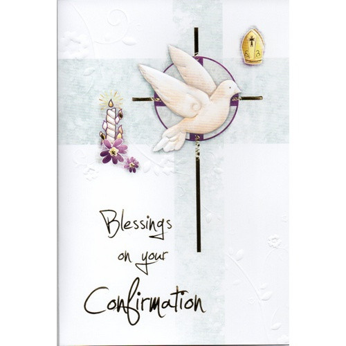 Card:  Confirmation Blessing Symbol
