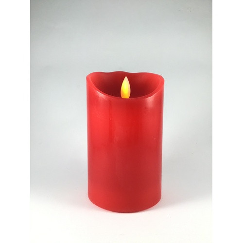 Moving Wick LED Candle: Red 75mm x 125mm