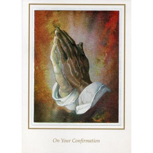 Card: Confirmation - Praying Hands Foil