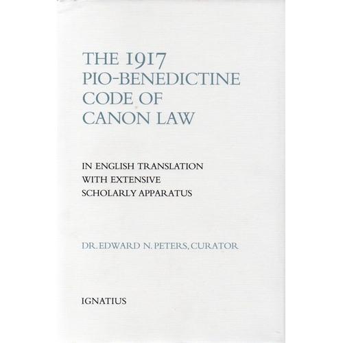 Book: The 1917 Pio-Benedictine Code of Canon Law - Hardcover