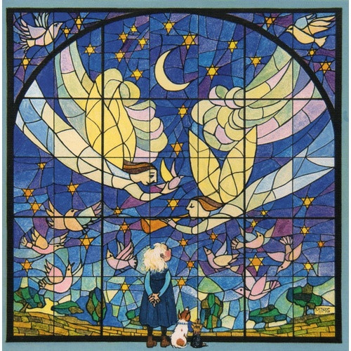 Card: Christmas - Angels Stained Glass