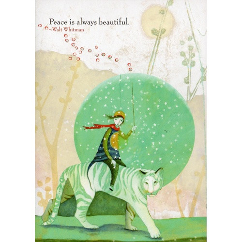 Card: Peace is Always Beautiful - Walt Whitman