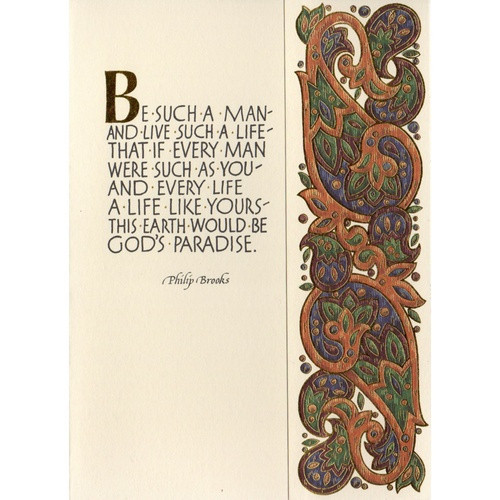 Abbey Greeting Card: Be Such a Man