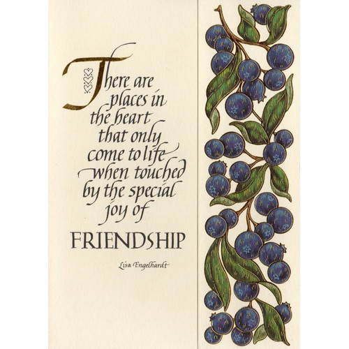 Abbey Greeting Card: Places in the Heart - Friendship