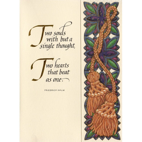 Abbey Greeting Card: Two Souls - Anniversary