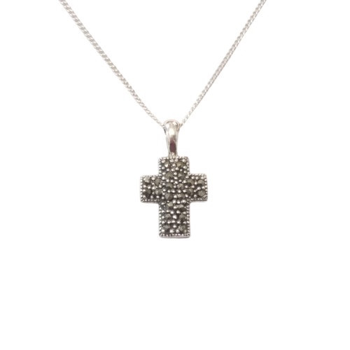 Marc Small Cross Pendant - Sterling Silver 13mm
