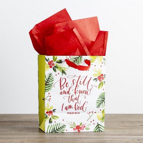 Christmas Gift Bag: Medium - Be Still