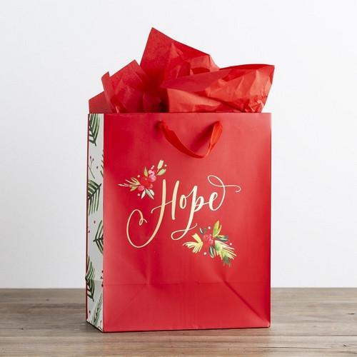 Christmas Gift Bag: Large - Hope Red