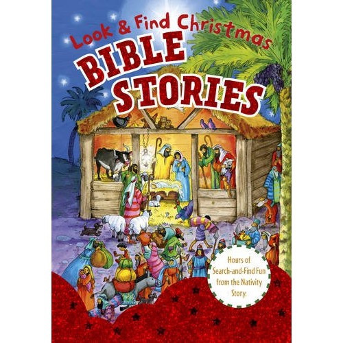 Board Book: Look and Find Bible Stories - Christmas