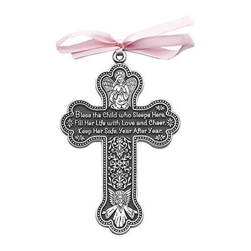 Crib Cross: Bless This Child (pink)