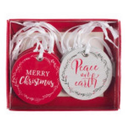 Christmas Gift Tag Set: Red