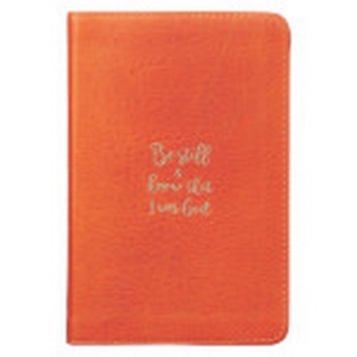 Journal: Be Still and Know - Orange Full Grain Leather