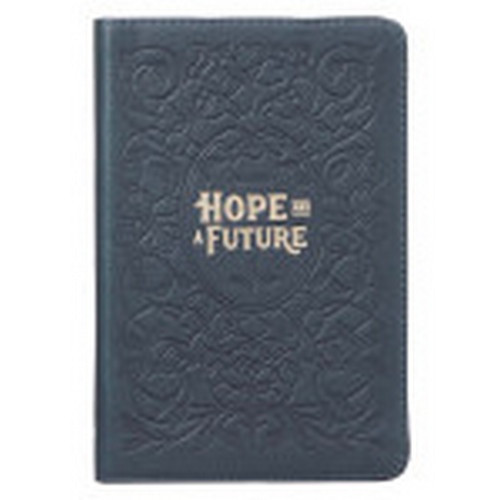 Journal: Hope and a Future - Blue Full Grain Leather